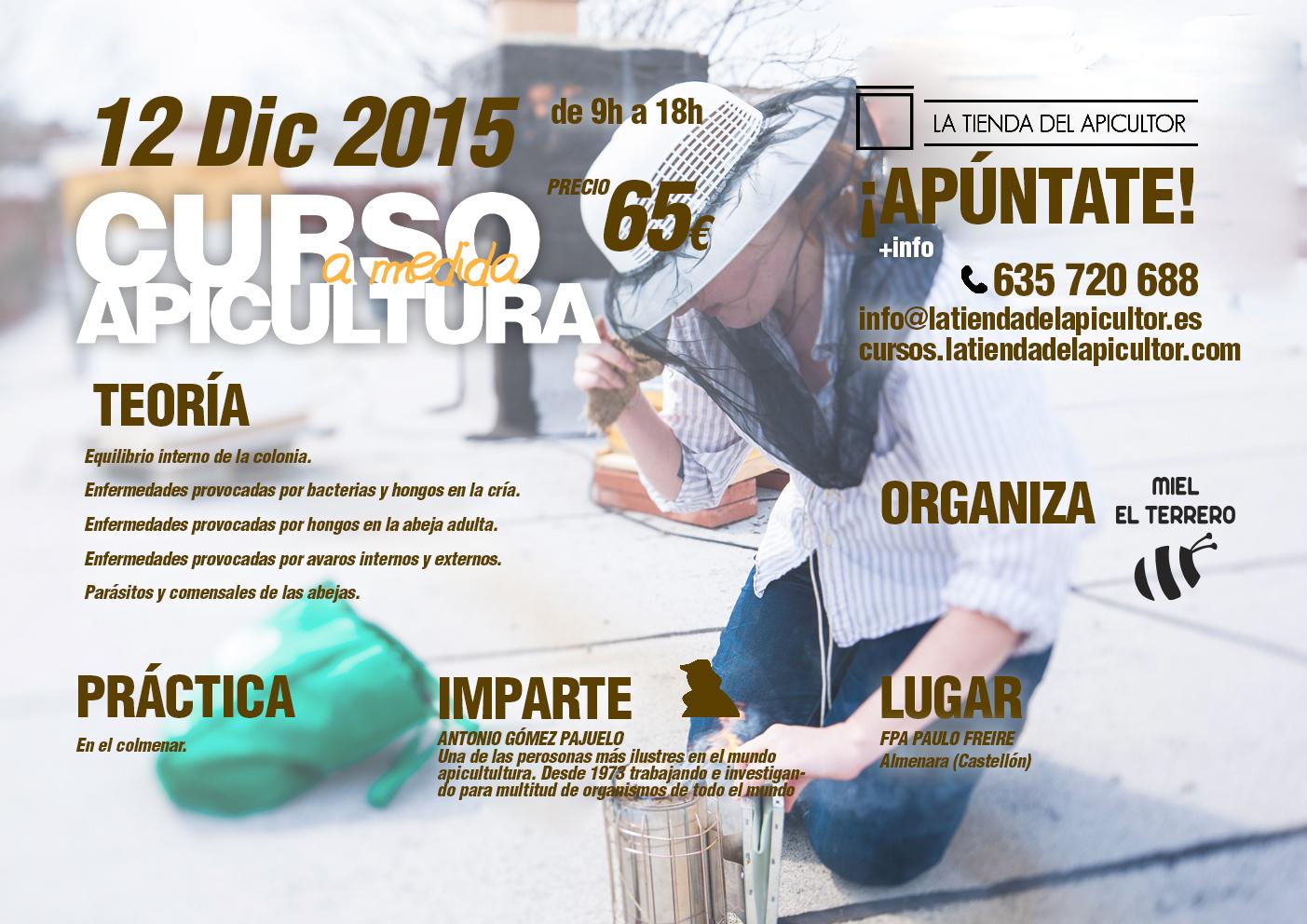 CURSO DE ENFERMEDADES DE LAS ABEJAS. Almenara, Castellón, 12.12.2015 ...