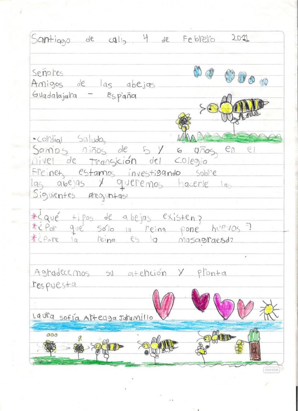 Cartas de niños | Fundación Amigos de las Abejas